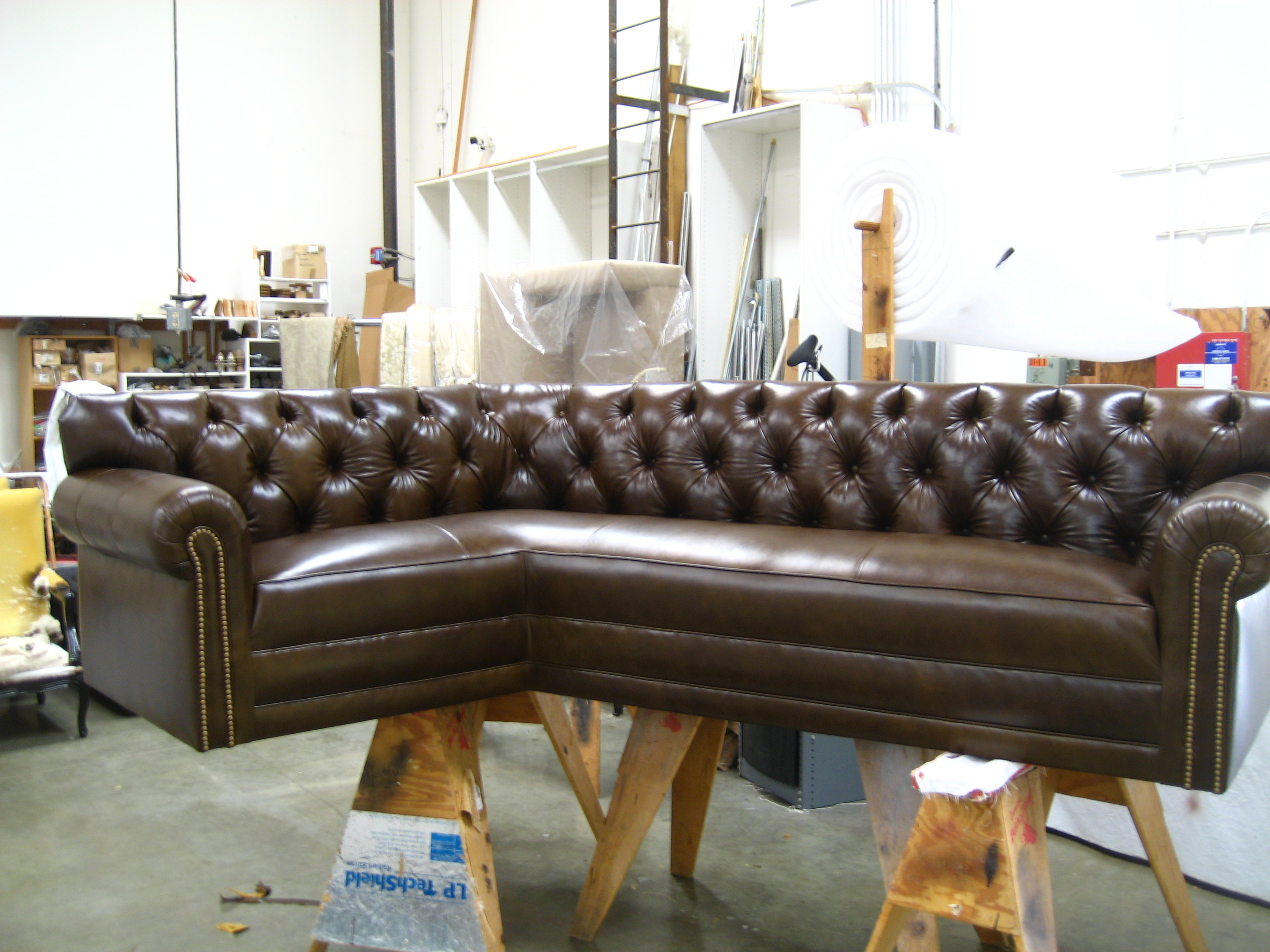 Old World Leather Furniture With Nail Head Detail Designed And Made Here At Jcw