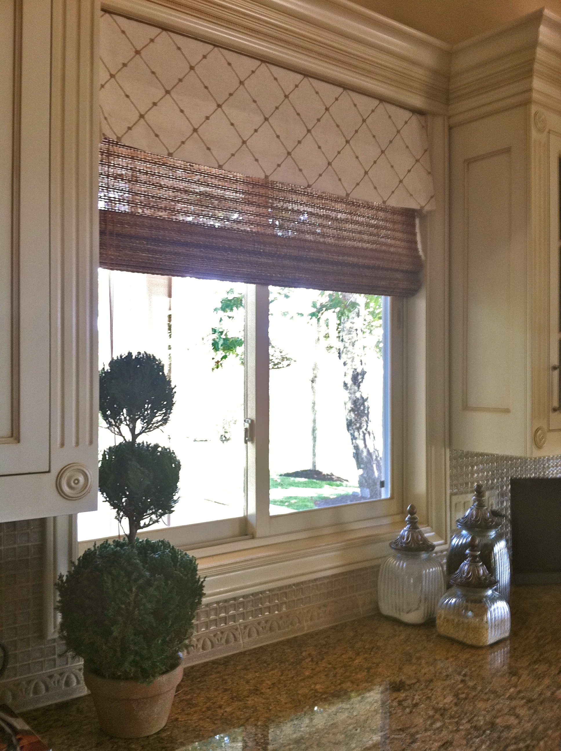 Before and After Kitchen Window Treatments – Judy s Custom Workroom