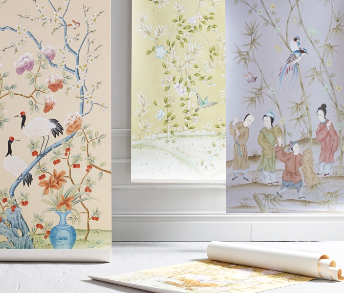 Custom Hand Painted Wallpaper Judys Workroom